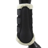 NEW Equinenz Breathable Wool Brushing Boots(Colour:Black,Size:L)