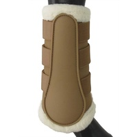 NEW Equinenz Breathable Wool Brushing Boots(Colour:Caramel,Size:L)