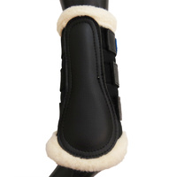 Breathable Wool Dressage Boots [Size: XS] [Colour: Black]