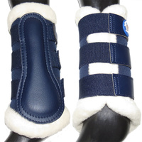 Breathable Wool Dressage Boots [Colour: Navy] [Size: s]