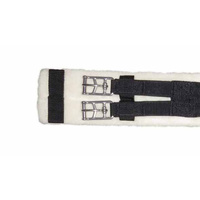"NEW Wool Lined Dressage Girth [Size: 32"" / 81cm] [Colour: Black with black elastic]"