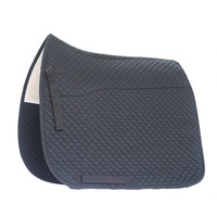 Equinenz EQ Original- Wool Lined Cotton Quilted Dressage Saddle Blanket